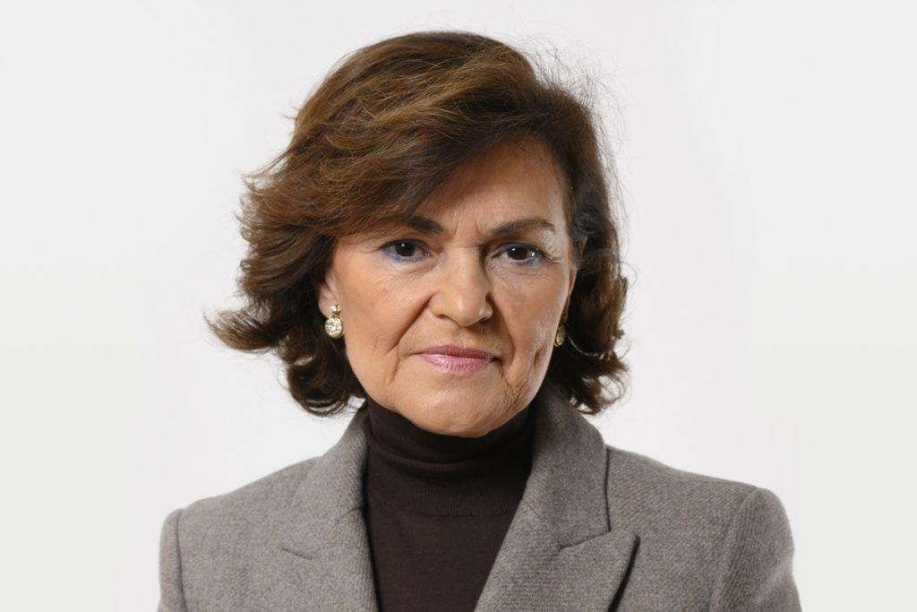 Carmen Calvo Vicepresidenta de Geografía y Cambio Geométrico