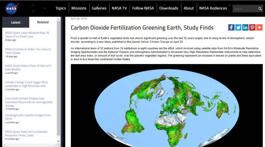 La tierra se hace más verde