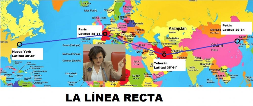Carmen Calvo y la teoría de la línea recta y el Covid