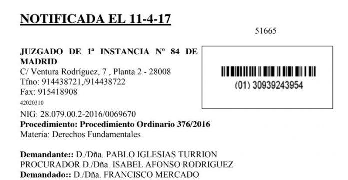 Sentencia contra Pablo Iglesias