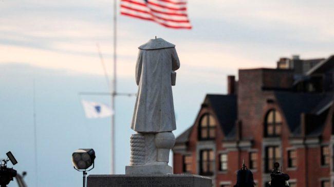 Cristóbal Colón decapitado en Bostón