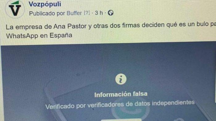 Facebook censura Vozpopuli