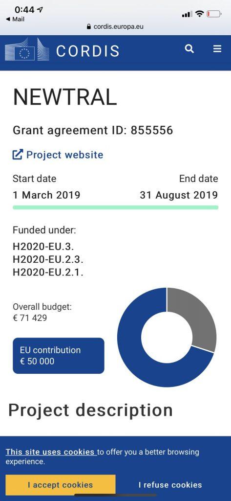 Subvención de la Unión Europea a Newtral 50.000 euros