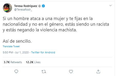 Teresa Rodríguez y la manipulación a toda costa