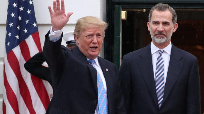 Trump y el Rey Felipe VI