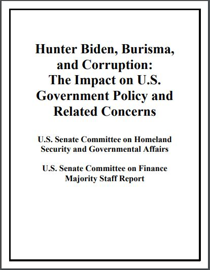nforme del Comité de Seguridad Nacional del Senado de EEUU sobre Hunter Biden
