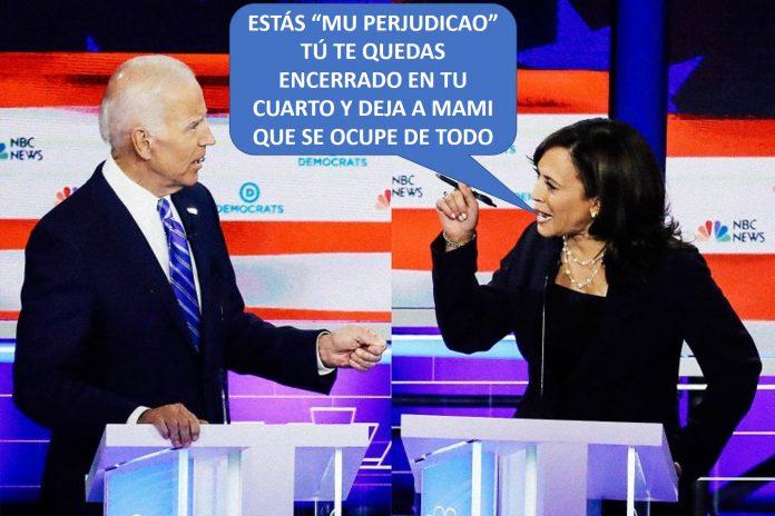 Joe Biden vuelve a mostrar su demencia senil yKamala Harris se está frotando las manos