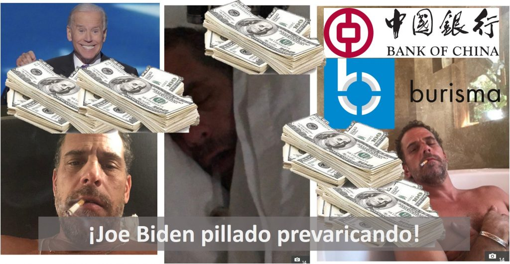 Joe Biden aterrorizado por haber sido pillado