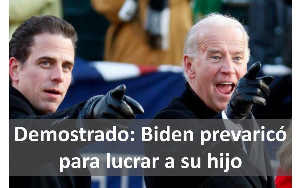 Senado de EEUU demuestra que Joe Biden mintió sobre negocios de su hijo Hunter