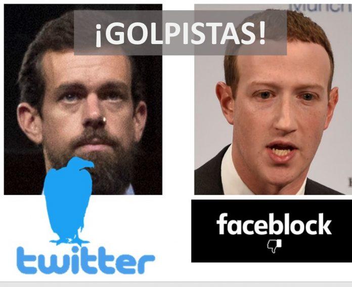 Twitter y Facebook dan un golpe de estado