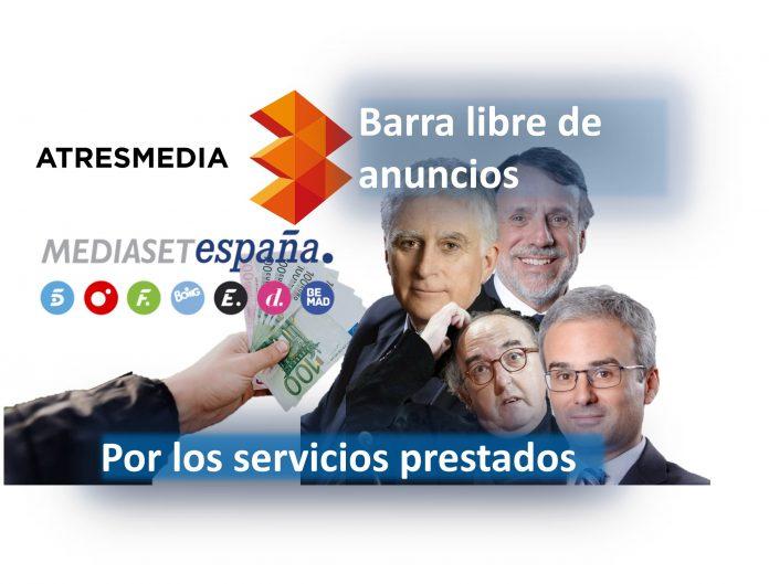 Barra libre de anuncios por los servicios prestados