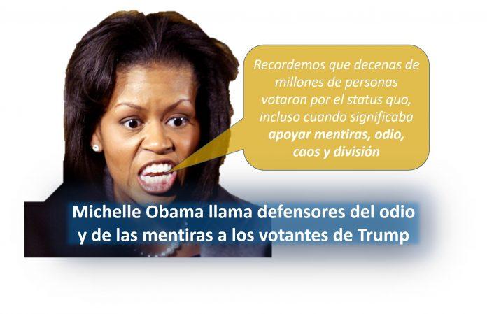 Michelle Obama insulta a los votantes de Trump