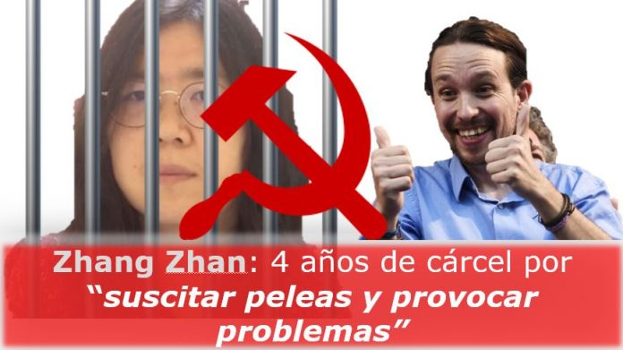 Zhang Zhan, 4 años de cárcel por suscitar peleas y provocar problemas