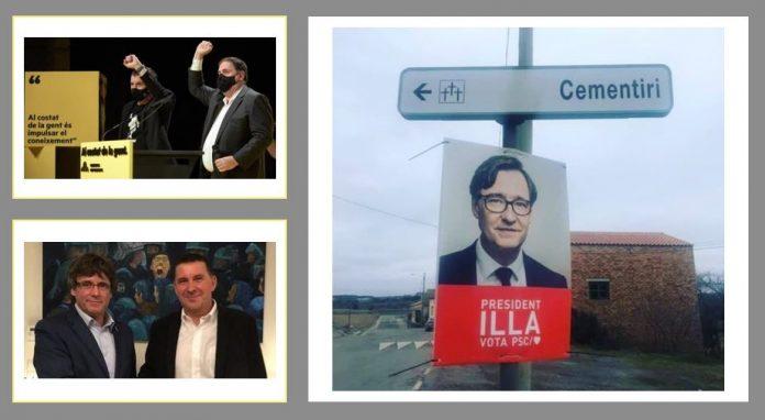 Lemas de campaña 14 F en Cataluña