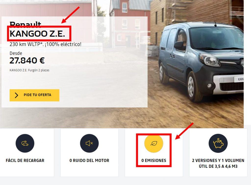 Renault Cero Emisiones. Mentira