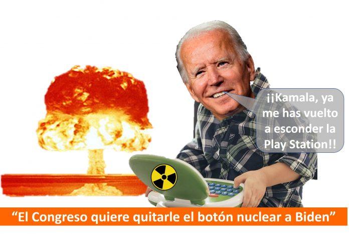 Se plantean quitarle el botón nuclear a Demente Joe Biden