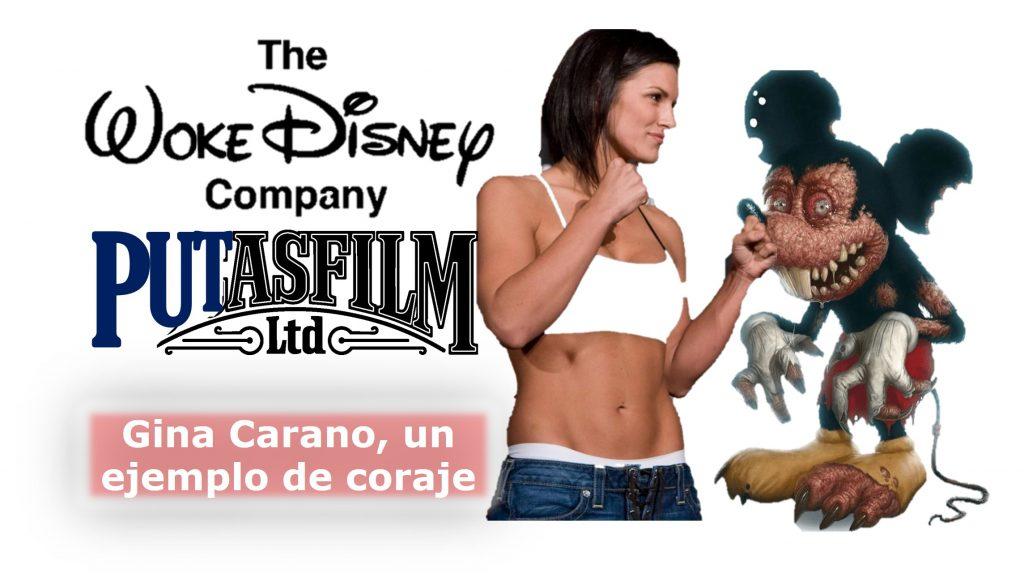 """""""Woke"""" Disney despide a Gina Carano. Que te den por culo Mickey"""