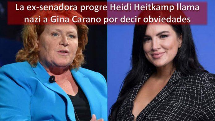 La ex-senadora progre Heidi Heitkamp llama nazi a Gina Carano por decir obviedades