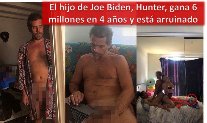 El hijo de Joe Biden, Hunter, gana 6 millones en 4 años y está arruinado