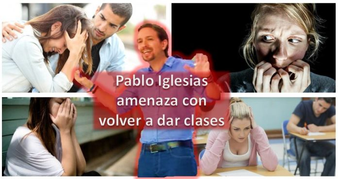 Pablo Iglesias amenaza con voler a dar clases