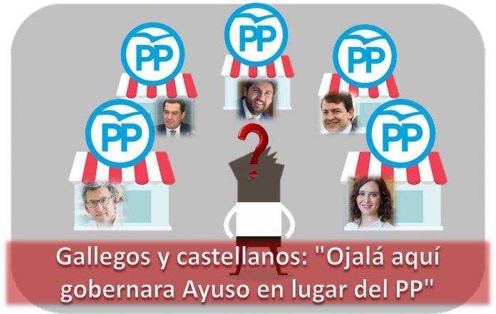 Gallegos y castellanos Ojalá aquí gobernara Ayuso en lugar del PP