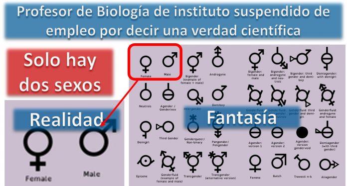 Profesor de Biología de instituto suspendido de empleo por decir una verdad científica